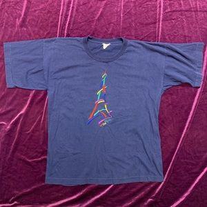 Vintage 90s Eiffel Tour Shirt Single Stitch